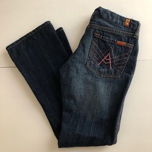 7 For All Mankind A Pocket Boot Cut Flared Jeans